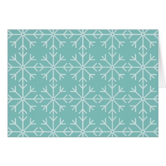 Snowflake  pattern - blue and white. card