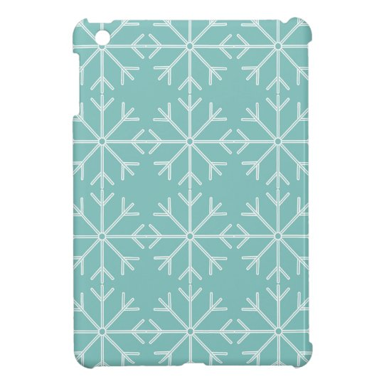 Snowflake  pattern - blue and white. case for the iPad mini
