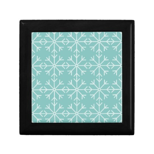 Snowflake  pattern - blue and white. gift box