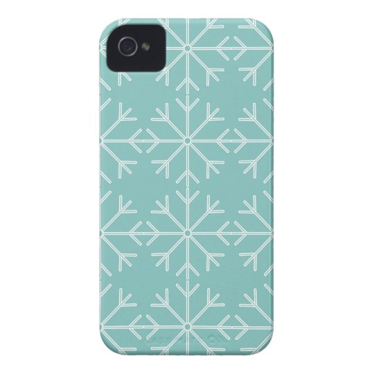 Snowflake  pattern - blue and white. iPhone 4 cover