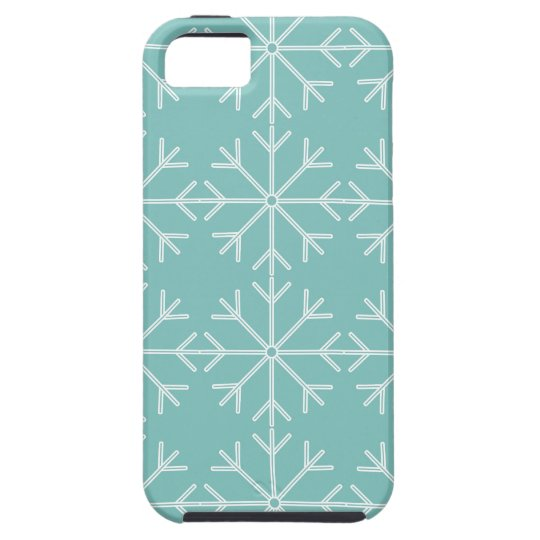 Snowflake  pattern - blue and white. iPhone 5 case