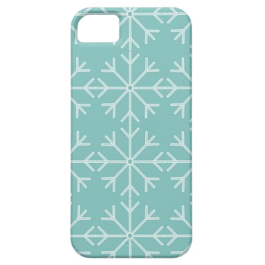 Snowflake  pattern - blue and white. iPhone 5 cases