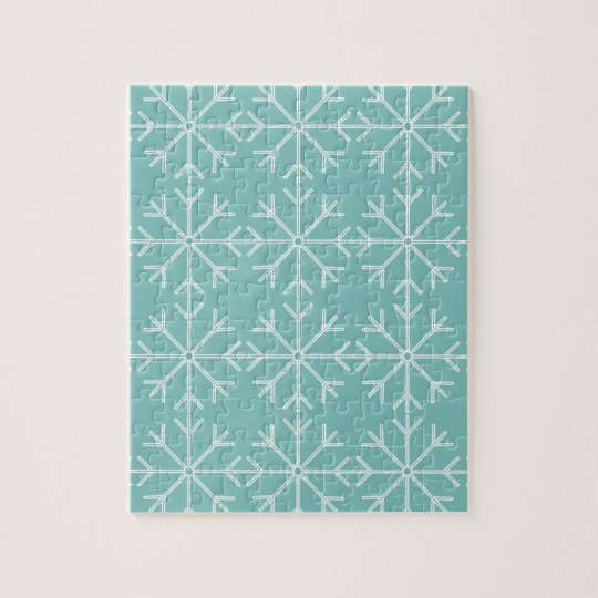 Snowflake  pattern - blue and white. jigsaw puzzle