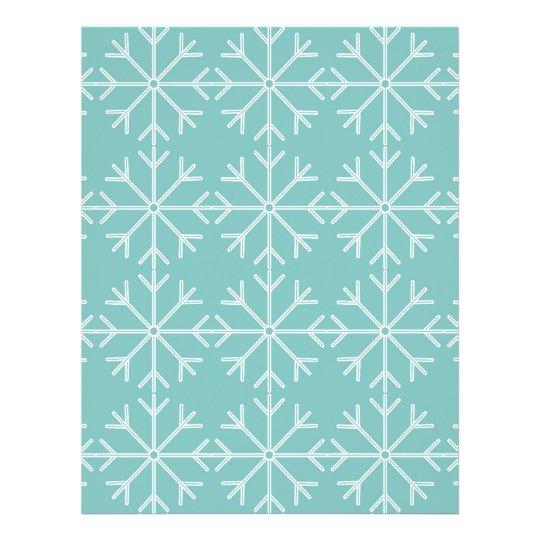 Snowflake  pattern - blue and white. letterhead