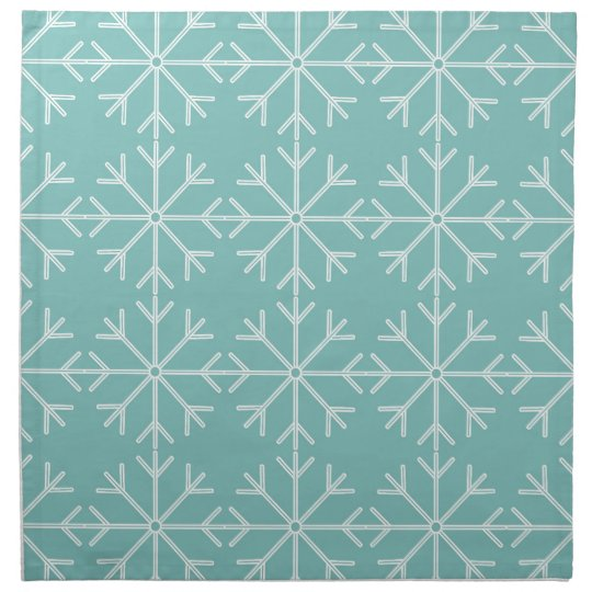 Snowflake  pattern - blue and white. napkin