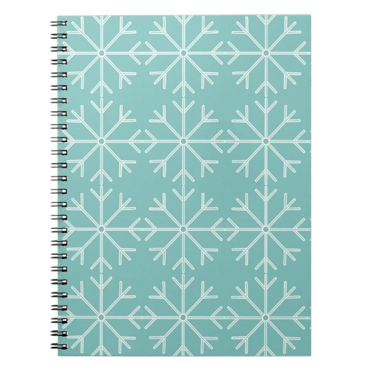 Snowflake  pattern - blue and white. notebook