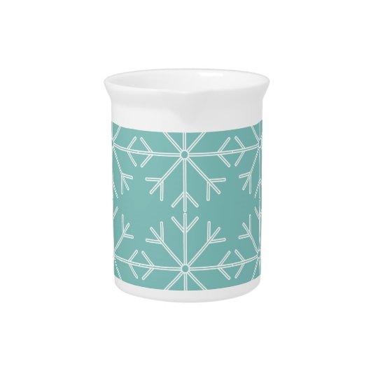Snowflake  pattern - blue and white. pitcher