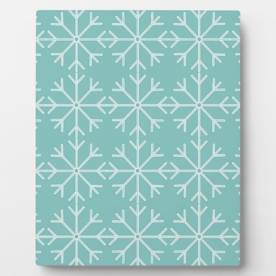 Snowflake  pattern - blue and white. plaque