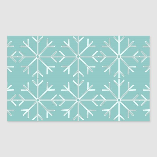 Snowflake  pattern - blue and white. sticker
