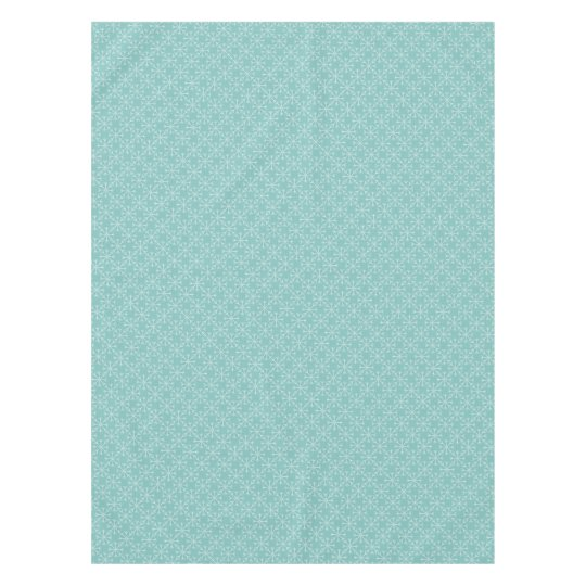 Snowflake  pattern - blue and white. tablecloth