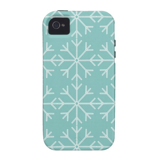 Snowflake  pattern - blue and white. vibe iPhone 4 covers