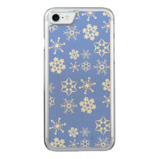 Snowflake Pattern Carved iPhone 7 Case