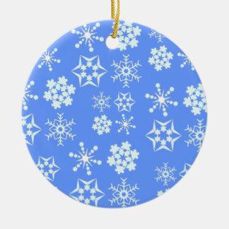Snowflake Pattern Ceramic Ornament