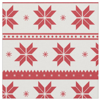 Snowflake pattern - Christmas gifts Fabric