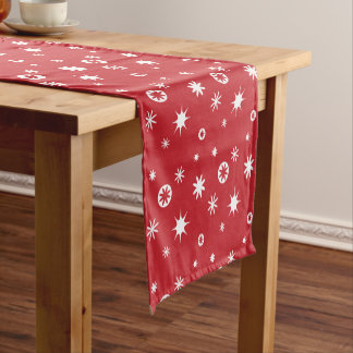 Snowflake pattern - Christmas gifts Short Table Runner