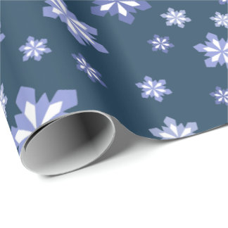 Snowflake Pattern In Blue And White
