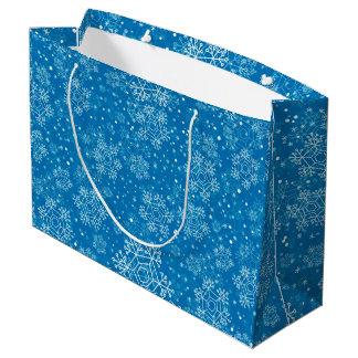 Snowflake pattern large gift bag