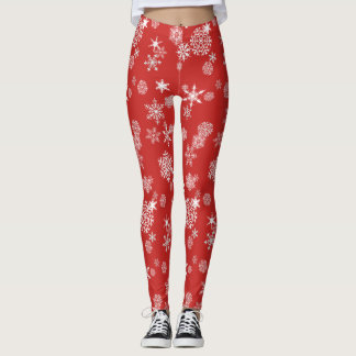 snowflake pattern leggings