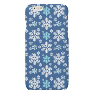 Snowflake Patterned Blue