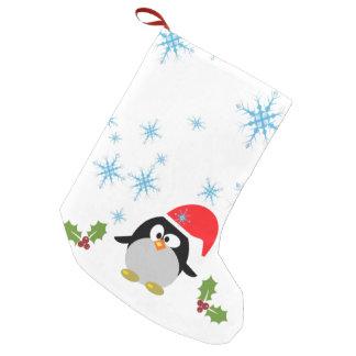 Snowflake Penguin Custom Christmas Stocking