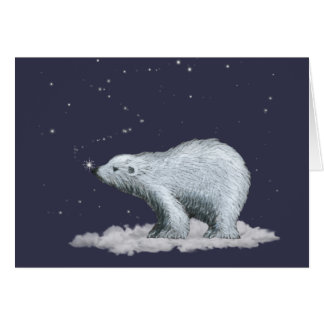 Snowflake Polar Bear Christmas Card