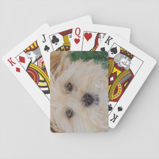 Snowflake Puppy Playing Cards
