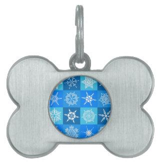 Snowflake Quilt Pet ID Tag