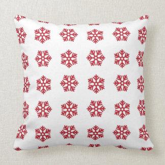 Snowflake Red White Christmas Pillow