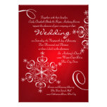 Snowflake Red Winter Wedding