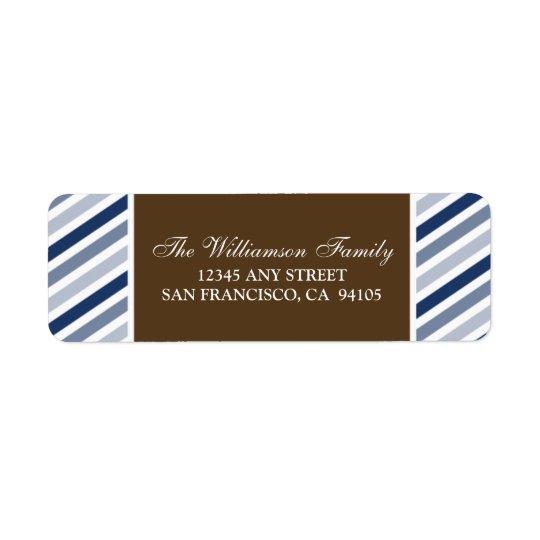 Snowflake Ribbon Holiday Address Labels (navy)