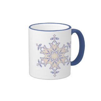 Snowflake Ringer Coffee Mug