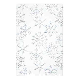 Snowflake Scrapbooking Paper Stationery