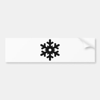 Snowflake Silhouette Bumper Sticker