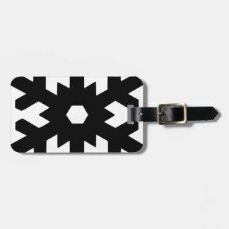 Snowflake Silhouette Luggage Tag