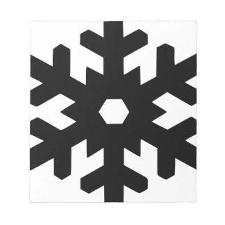 Snowflake Silhouette Notepad