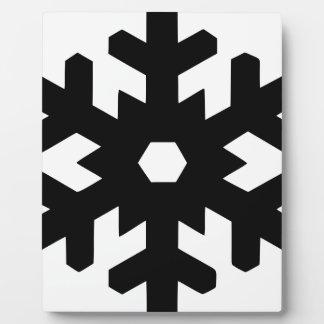 Snowflake Silhouette Plaque