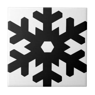 Snowflake Silhouette Tile
