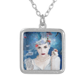 Snowflake Silver Plated Necklace