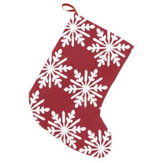 Snowflake Small Christmas Stocking