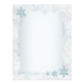 Snowflake snowy template Christmas letterheads Personalized Letterhead