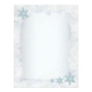 Snowflake snowy template Christmas letterheads Personalized Letterhead