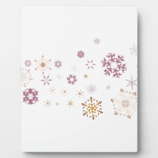 Snowflake Spangled Background Plaque