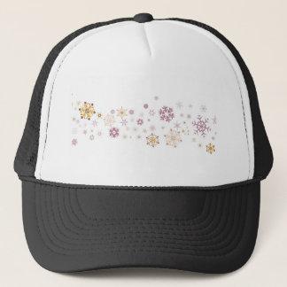 Snowflake Spangled Background Trucker Hat