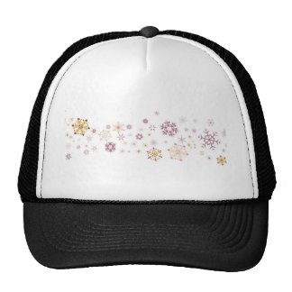 Snowflake Spangled Background Trucker Hat