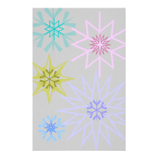 Snowflake Stationary Stationery Paper