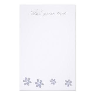 Snowflake~Stationery Custom Stationery