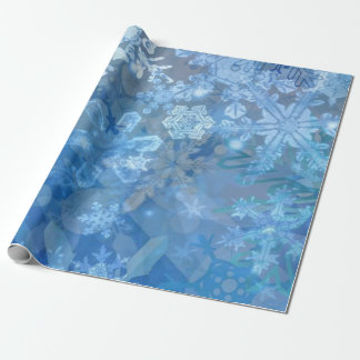 Snowflake Storm digital art Wrapping Paper