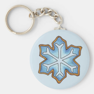 Snowflake Sugar Cookie Winter Hanukkah Christmas Keychain
