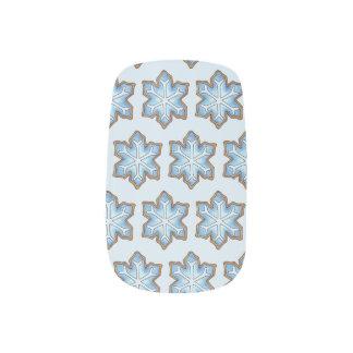 Snowflake Sugar Cookie Winter Hanukkah Christmas Minx Nail Art