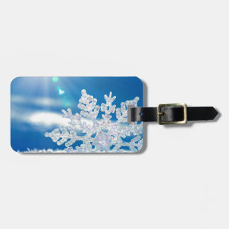 snowflake sunshine luggage tag